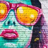 art event face painting on bricks